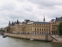 Paris, Palace of Justice. Palace of Justice with the Conciergerie, Paris, France stock image