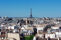 Paris panorama. With the Eiffel tower royalty free stock image
