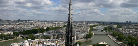 Paris panorama. From the top of Notre Dame Stock Image