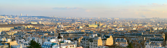 Paris panorama Arkivfoto