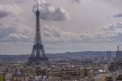 Paris panorama Royaltyfria Bilder