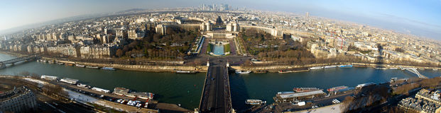 Paris panorama. A panoramic picture of Paris from Tour Eiffel Stock Images