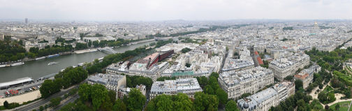 Paris, panorama with Eiffel Tower, east Royalty Free Stock Photography