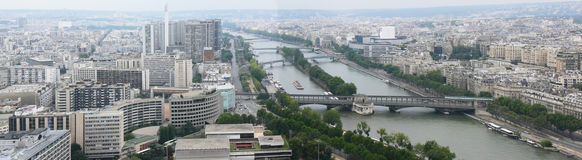 Paris, panorama with Eiffel Tower, south-west Stock Image
