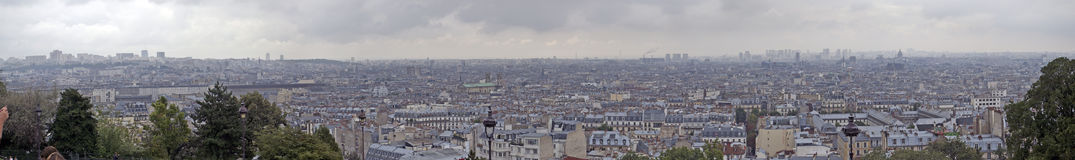 Paris panorama from Sacre Coeur Stock Images