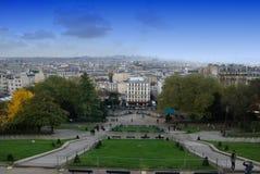 Paris panoramautsikt Arkivfoto