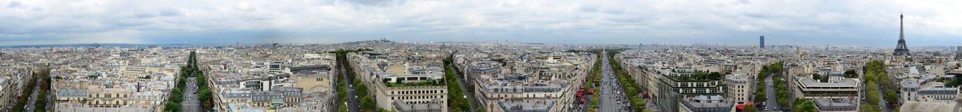 Paris panoramic Royalty Free Stock Photo