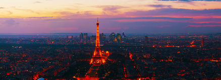 Paris panoramic cityscape with Eiffel tower Royalty Free Stock Photography