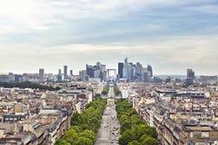 Paris. Panoramic view of Paris from the Arc de Triomphe Stock Photos