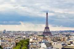 Paris. Panoramic view of Paris from the Arc de Triomphe Stock Images