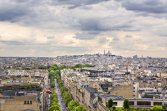 Paris. Panoramic view of Paris from the Arc de Triomphe Stock Photography