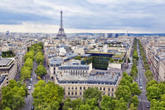 Paris. Panoramic view of Paris from the Arc de Triomphe Royalty Free Stock Images