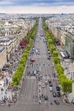 Paris. Panoramic view of Paris from the Arc de Triomphe Royalty Free Stock Photo