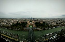 Paris. A panoramic view of the city of love Stock Photos