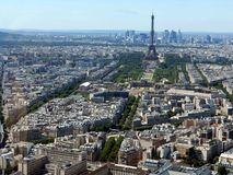 Paris. The panoramic view for the Eiffel Tour royalty free stock images