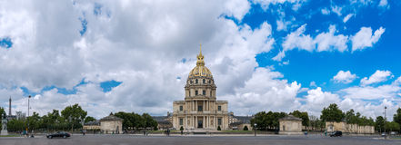 Paris - Panoramic view of Les Invalides royalty free stock photo
