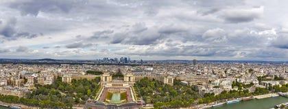 Paris panoramic view towards La Defence. Royalty Free Stock Photos