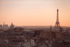 Paris panoramic view Stock Photos