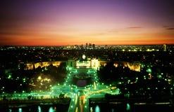 Paris par nuit Images libres de droits