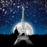 Paris par nuit illustration stock