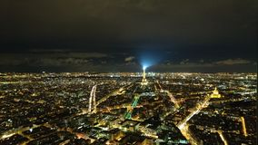 Paris par nuit photographie stock libre de droits