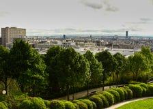 Paris Parc de Belleville stockbild