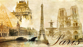 Paris, Paris. Royalty Free Illustration