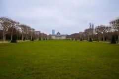 Paris. Park with green grass in Paris Stock Photos