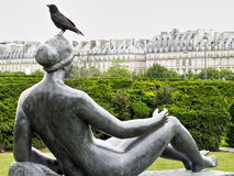 Paris park sculpture Stock Images