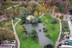 Paris Park. Park under Eiffel Tower, Paris, France Royalty Free Stock Photography