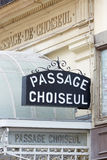 Paris, Passage Choiseul entrance Stock Image