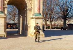 paris Patrol w ogródzie Tuileries Fotografia Stock