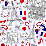 Paris pattern Royalty Free Stock Photo
