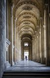 Paris, pedestrian arcades in the city center. France. Paris, pedestrian arcades in the city center near Louvre Museum. France Royalty Free Stock Images