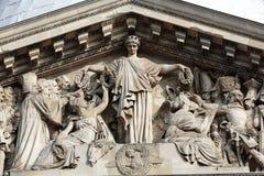 Paris - The pediment of Pantheon. Stock Images