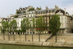Seine River em Paris Fotografia de Stock