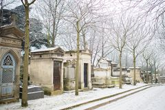 Paris, the Pere-Lachaise cemetery royalty free stock images