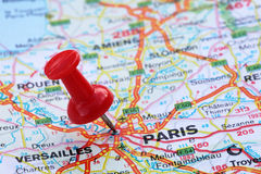 Paris with pin Royalty Free Stock Photo