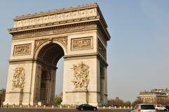 Paris, Place Charles de Gaulle. Arc de Triomphe in the Place Charles de Gaulle, Paris Royalty Free Stock Photos