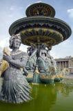 Paris. Place de la Concorde. Beautiful La Fontaine des Fleuves (1835) fountain at the popular Place de la Concorde, Paris Royalty Free Stock Images