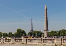 Paris, Place de la Concorde. Royalty Free Stock Images