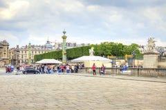 Paris. At the Place de la Concorde. The historic city center Royalty Free Stock Photos