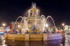 Paris. Place de la Concorde at night. Stock Photography