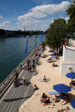 paris plage Royaltyfria Foton