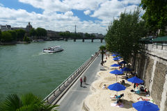 Paris-Plages beaches, France Royalty Free Stock Images