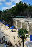 Paris-Plages beaches (France) Royalty Free Stock Images