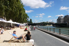 Paris Plages Beaches Royalty Free Stock Images