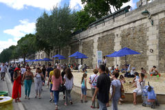 Paris Plages Beaches Royalty Free Stock Photos