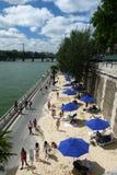 Paris-Plages sätter på land 2013 (Frankrike) Arkivfoto