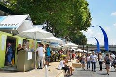 Paris-Plages Snack Refreshments Kiosks Paris Stock Photography